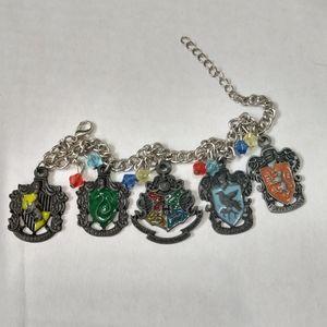 Harry Potter houses charm bracelet